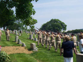 The Honor Guard 21 gun salute